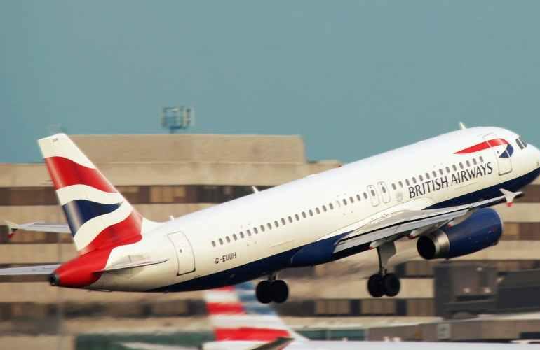 British-Airways-Start von der Landebahn