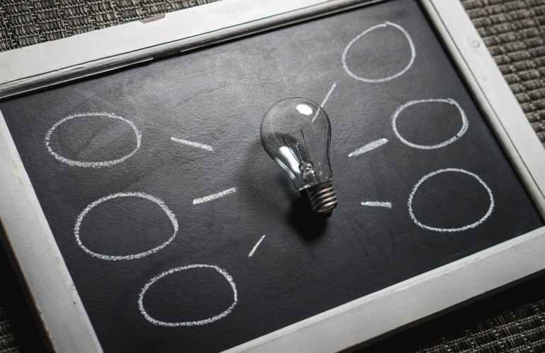 Schwarz-Weiß-Tafel-Business