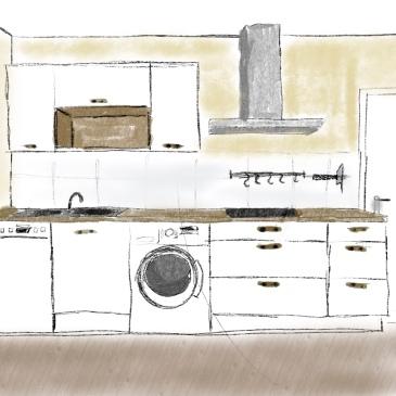 Skizze einer Küche